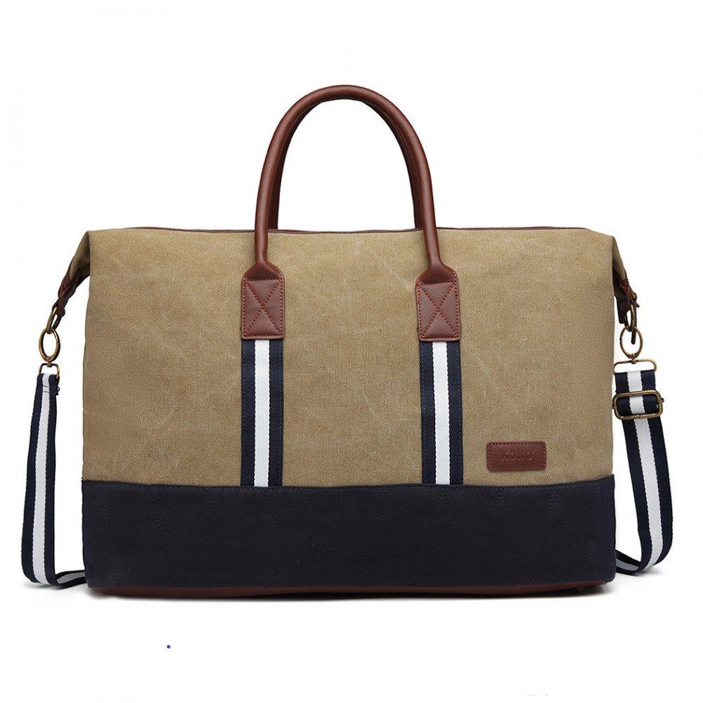 df1a3aa7b9661 Nadčasová elegantná cestovná taška Kono khaki