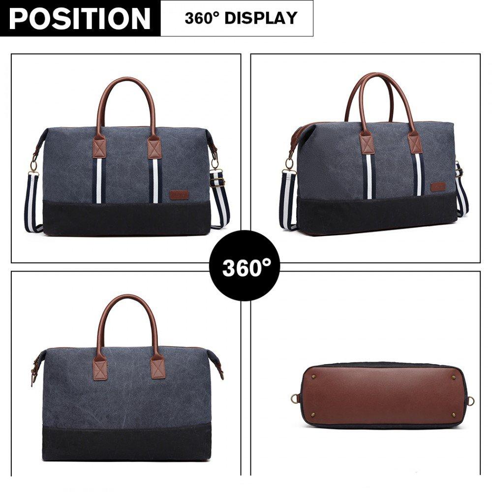 411451b0d614c elegantná cestovná taška Kono modrá 360 stupňový náhľad
