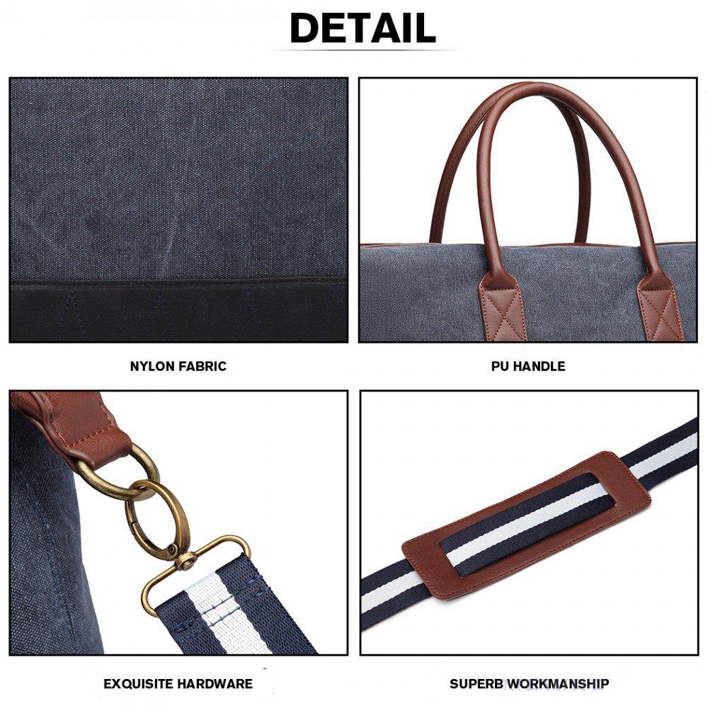 a16970bbe7c43 cestovná taška rozmery elegantná cestovná taška Kono modrá detail