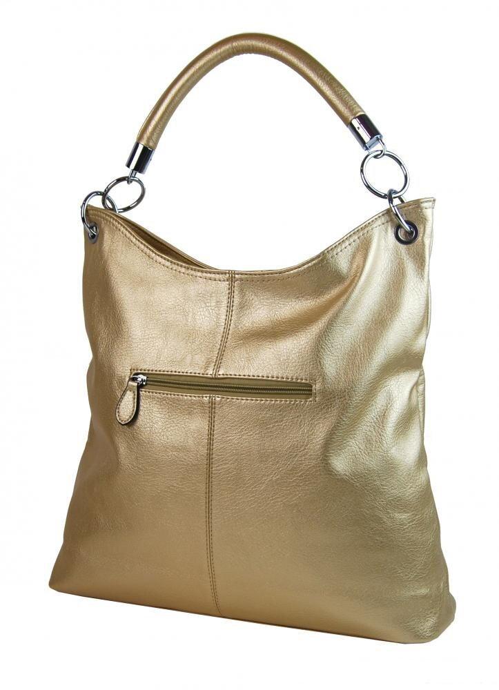 Zlatá kabelka veľká na rameno - plece Mahel 54-MH z eko kože f7e4889accf