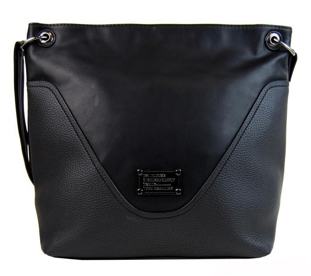 80e4c28907 Dámska čierna crossbody kabelka 2467-BB Bella Belly s vnútornou ...