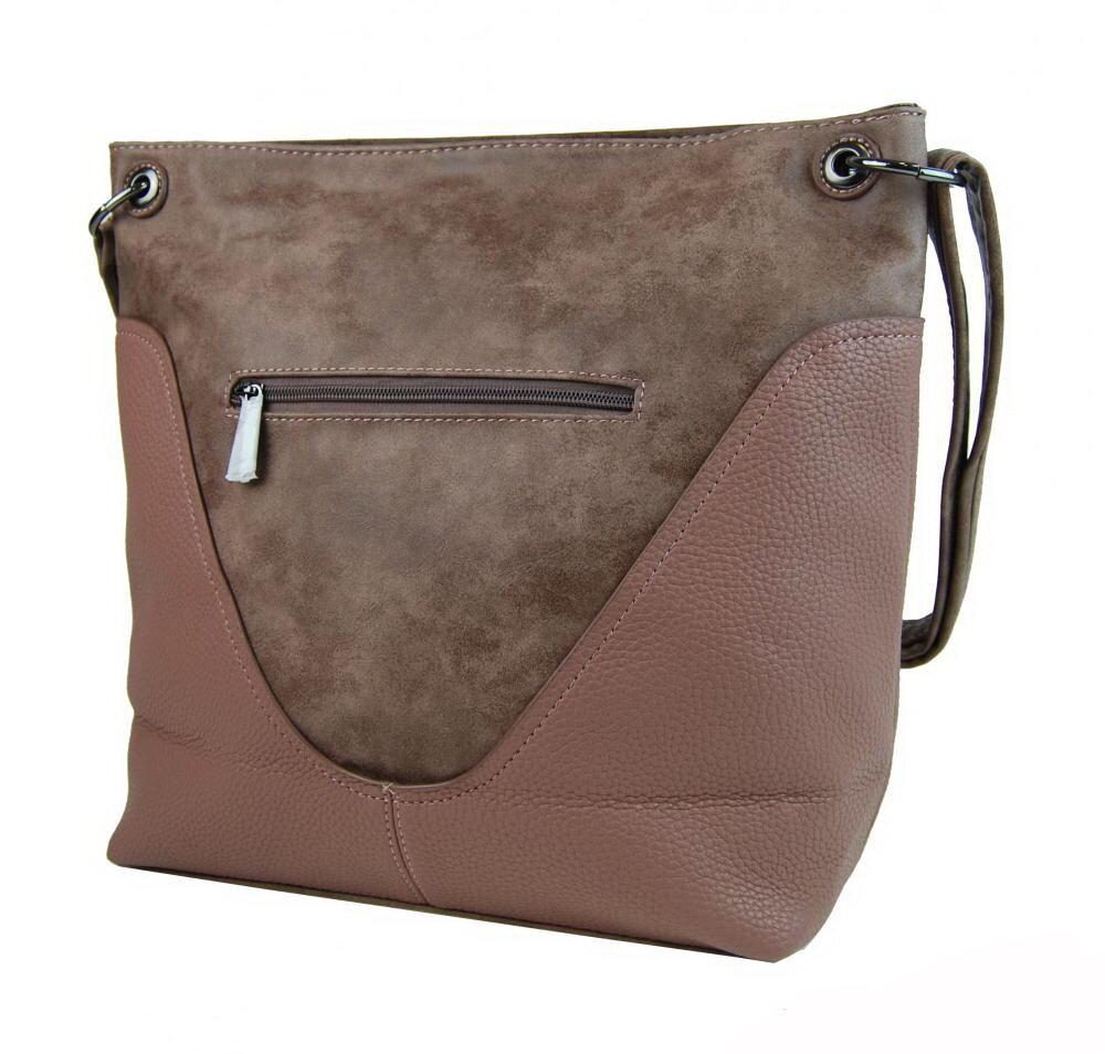 ... crossbody dámska ružovo hnedá kabelka Bella Belly 2467-BB zo zadu 4cd8f61366c