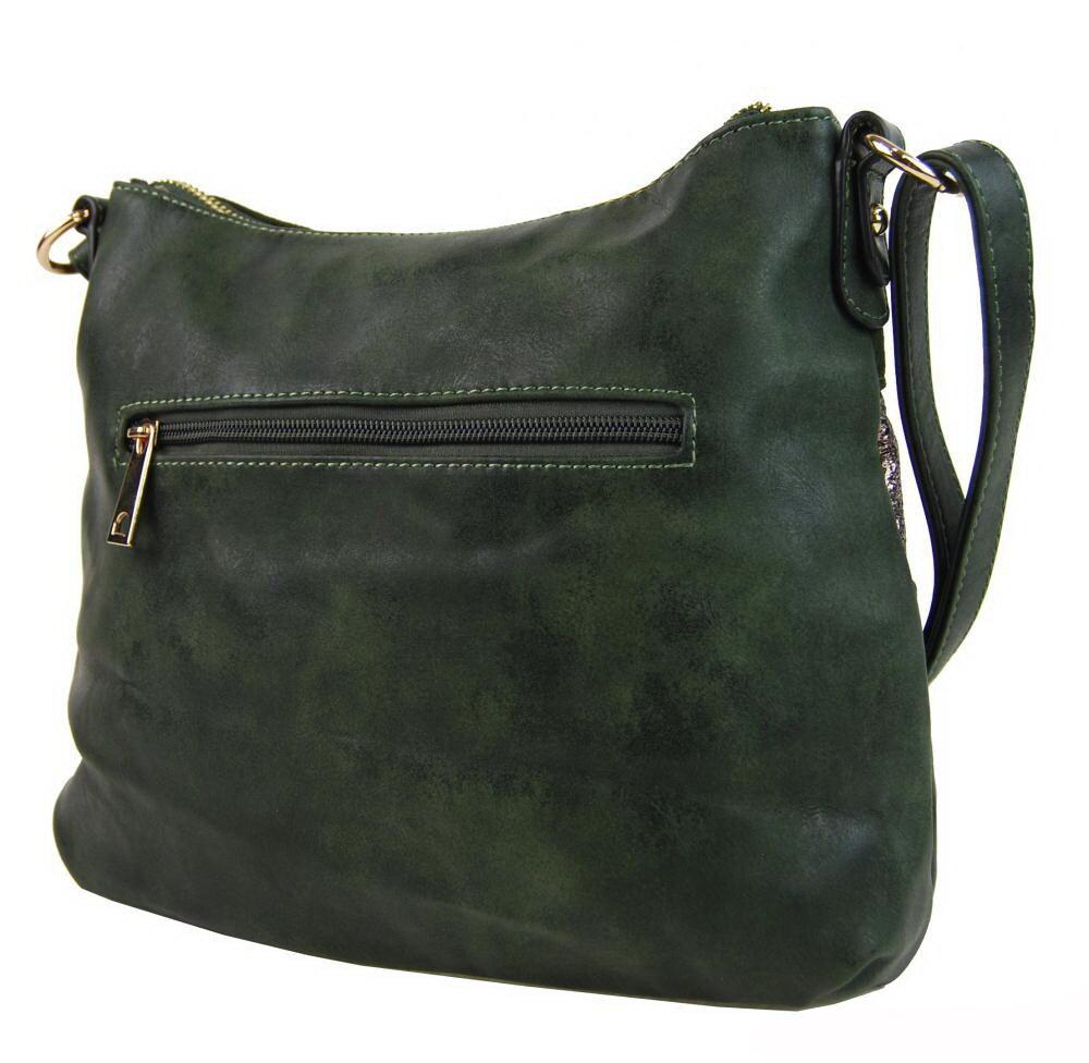 Zelená kabelka dámska elegantná crossbody Bella Belly 2765-BB s ... 373a8a9f059