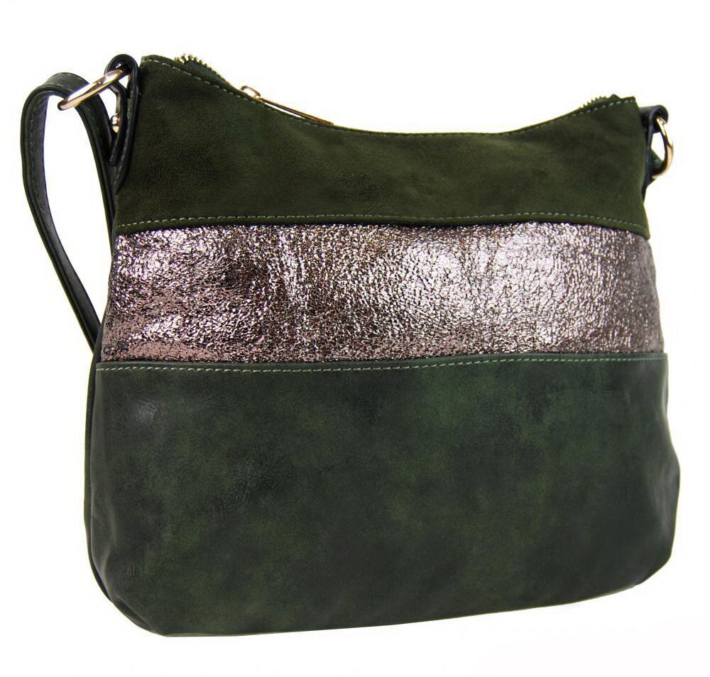 Zelená kabelka dámska elegantná crossbody Bella Belly 2765-BB s ... 09900ddb1d8