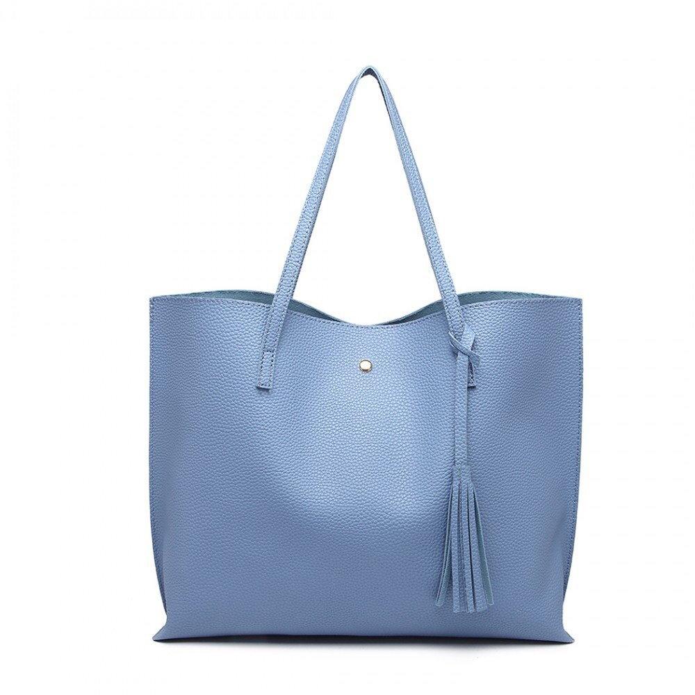 571b82c1ed Dámska modrá kabelka cez rameno na formát dokumentov A4