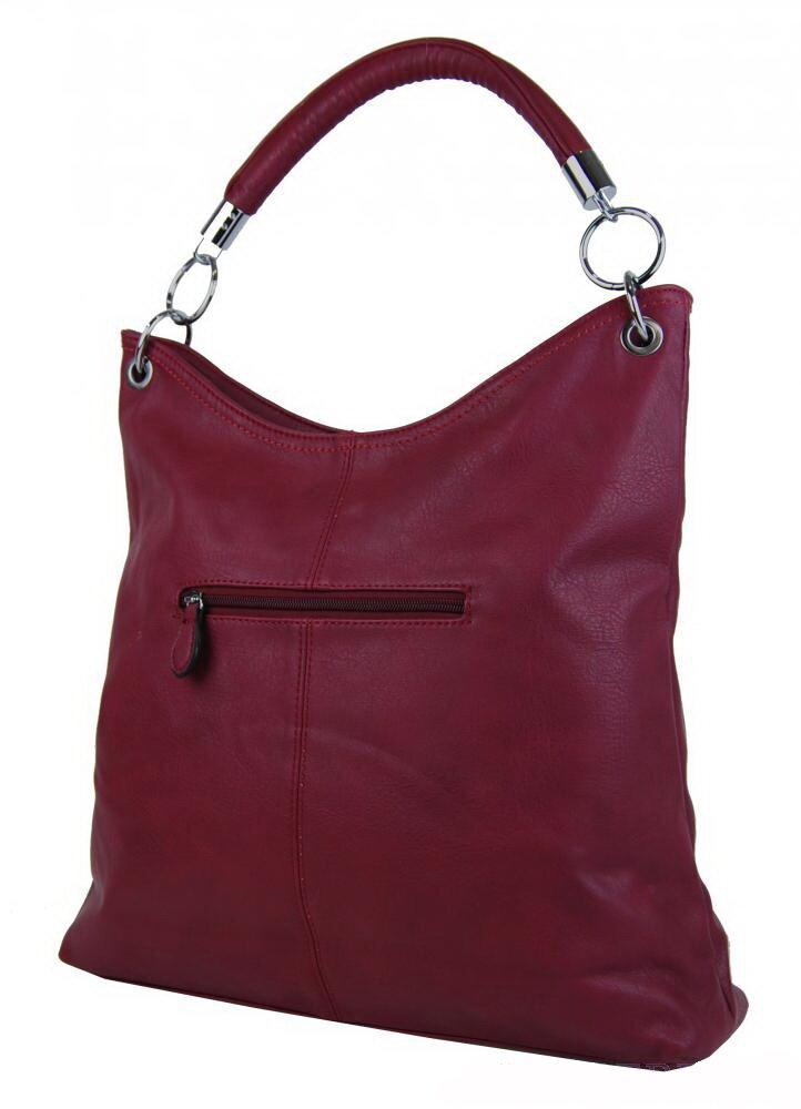 a3a86833eb Dámska bordová kabelka na rameno Mahel 54-MH na zips