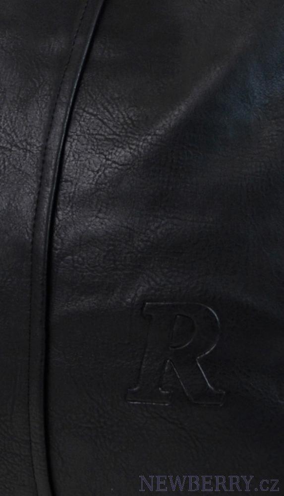 Čierna kabelka veľká na rameno - plece Mahel 54-MH z eko kože 67a5833f603