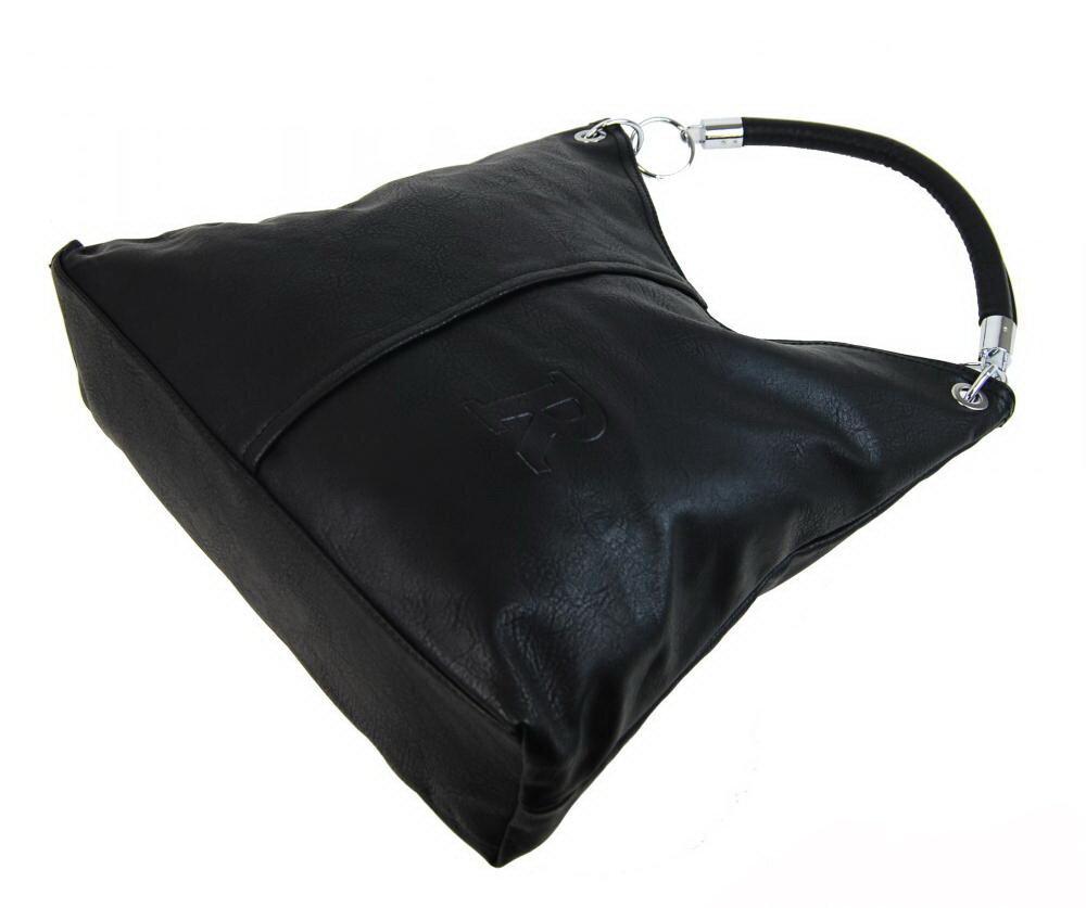 ... veľká čierna dámska na rameno kabelka Mahel 54-MH zo spodu 44a7b61dc61