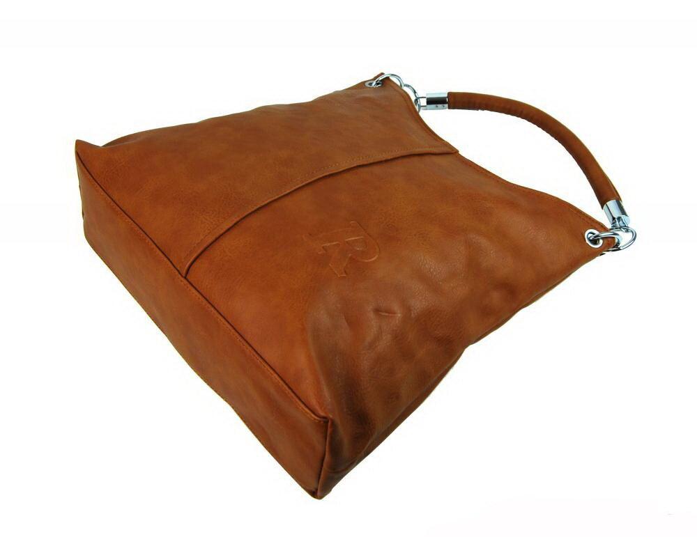Veľká hnedá kabelka na rameno - plece Mahel 54-MH z eko kože 08b1268a2dc