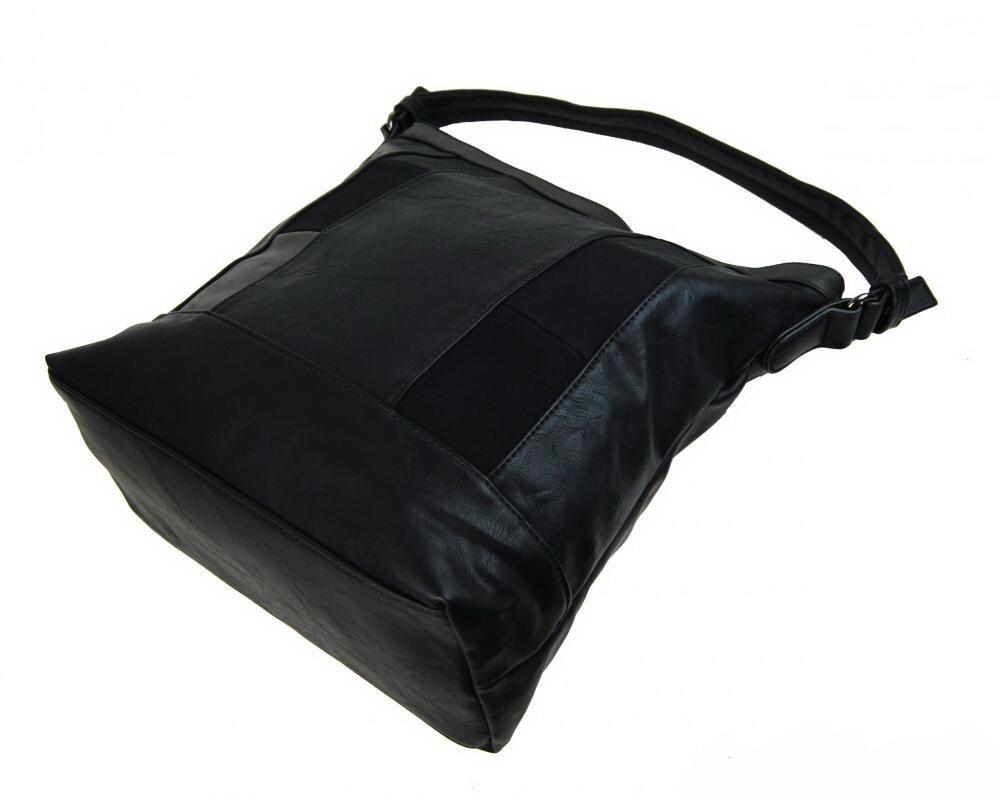 kabelka NH6071 zo zadu dámska čierna kabelka cez plece New Berry NH6071 zo  spodu 72e6497995b
