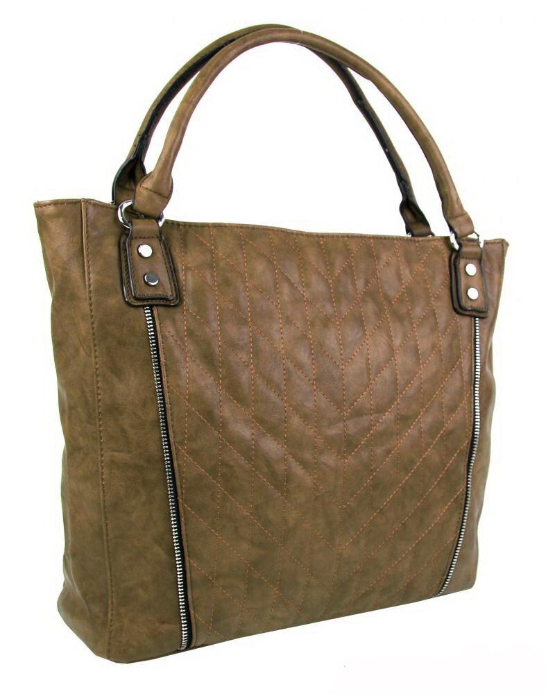 Dámska hnedá kabelka na plece - na rameno New Berry YH1651 prešívaná ... a0af14ac09b