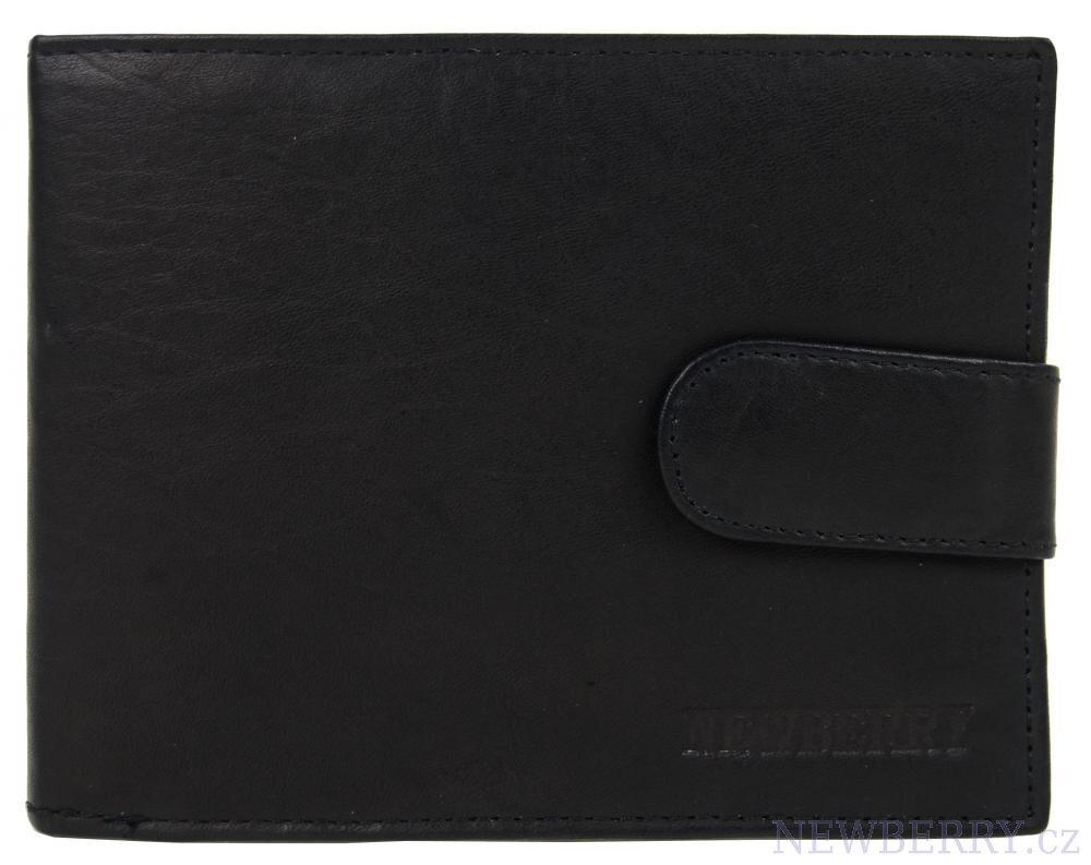 c964a9456 Pánska kožená peňaženka New Berry 895 čierna, z brúsenej kože, s ...
