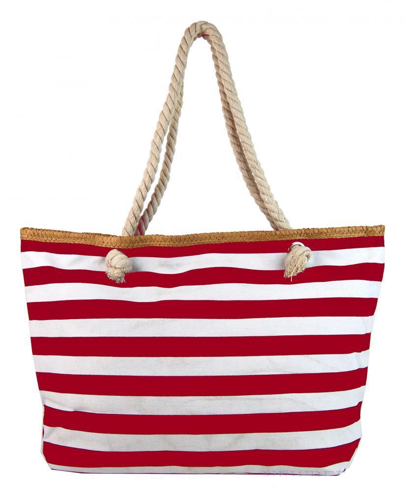 34eeb2918a New Berry veľká plážová taška cez rameno H-106-3 červeno biela