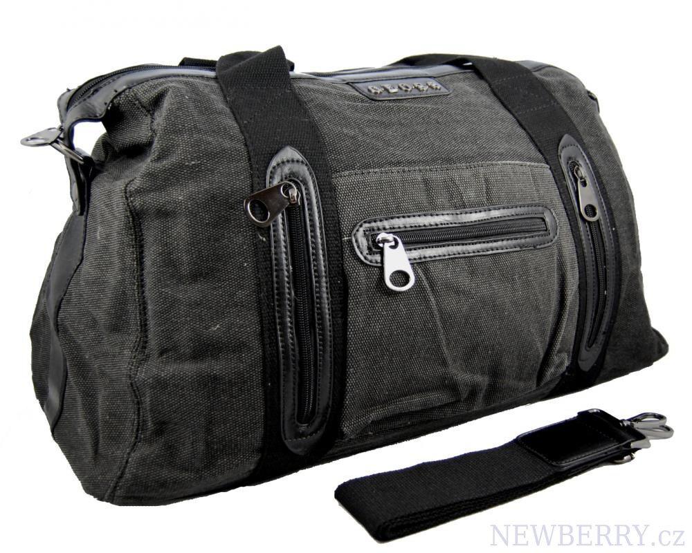 8363579a62 Pánska cestovná taška látková Geoss čierna
