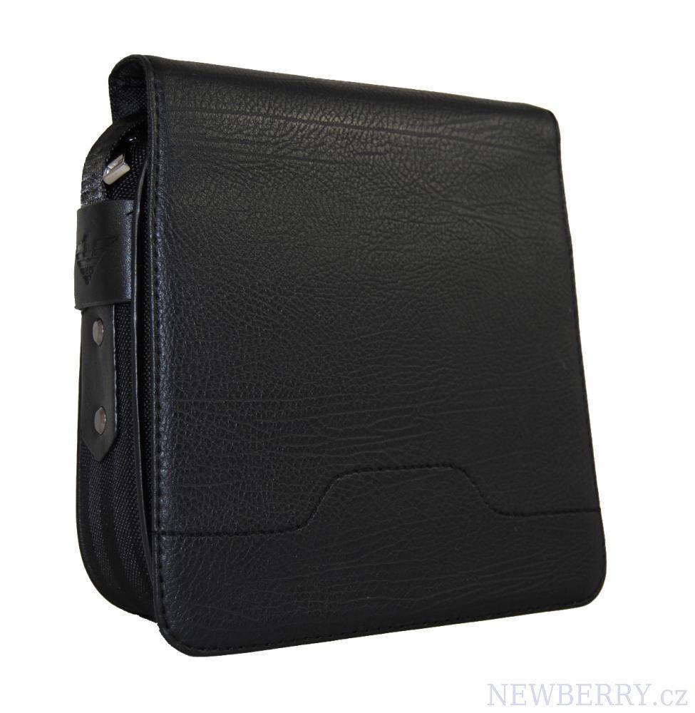 c58ccb8132 Pánska taška Mahel cez rameno čierna 201-1