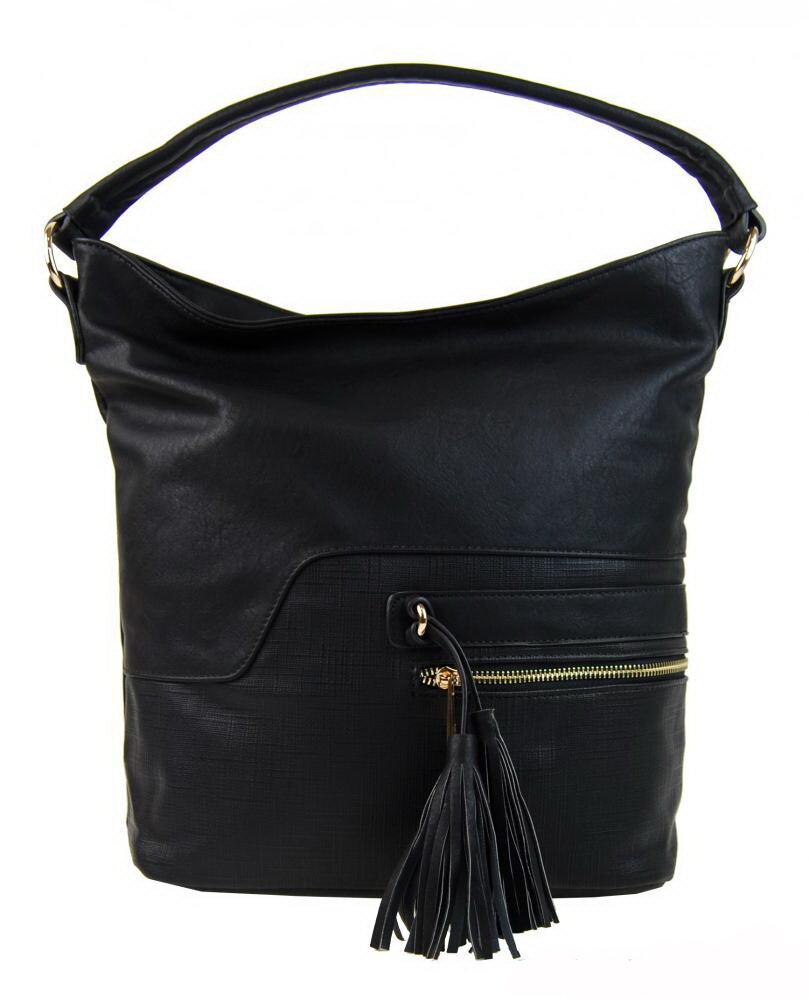 Dámska čierna kabelka cez plece - na rameno Sara Bag F1349 bez ... b870944d93d