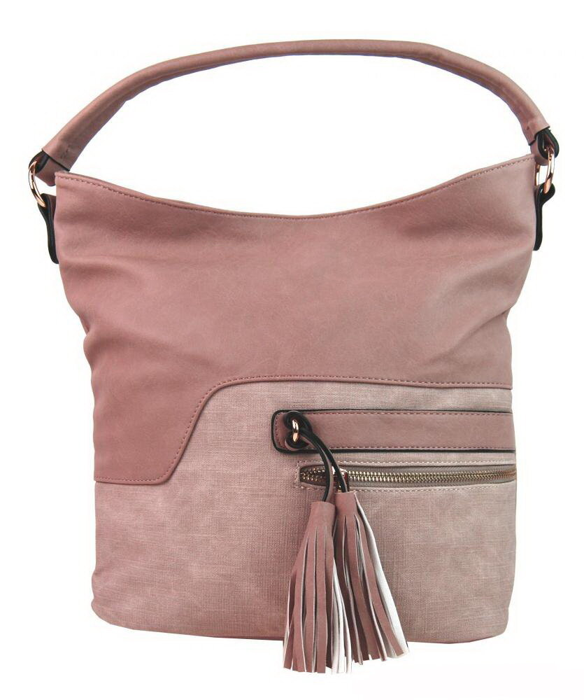 Ružová dámska kabelka na rameno - cez plece Sara Bag F1349 3b79d95f58b