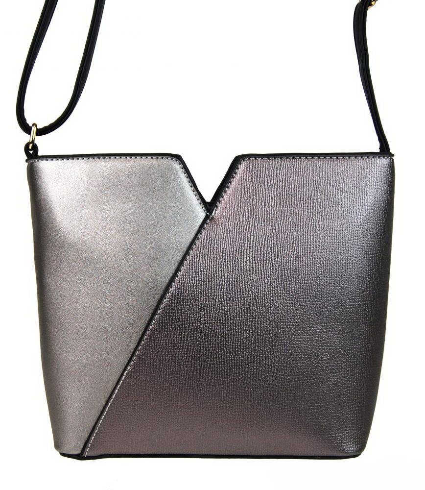 ea38b79bb Strieborná dámska crossbody kabelka Sun-bags F009 elegantná, z eko ...