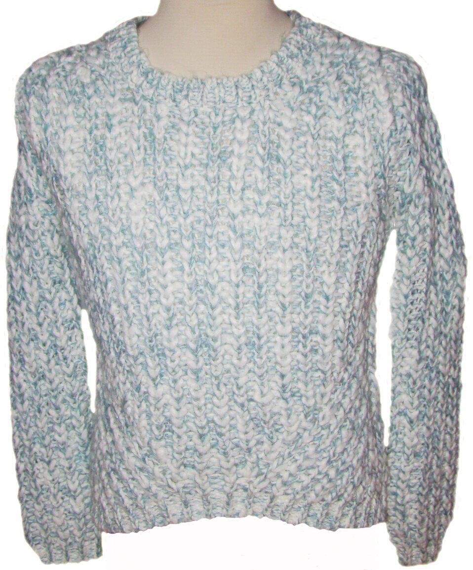 d915687f9607 Dámsky biely pletený sveter C A melírový robustný