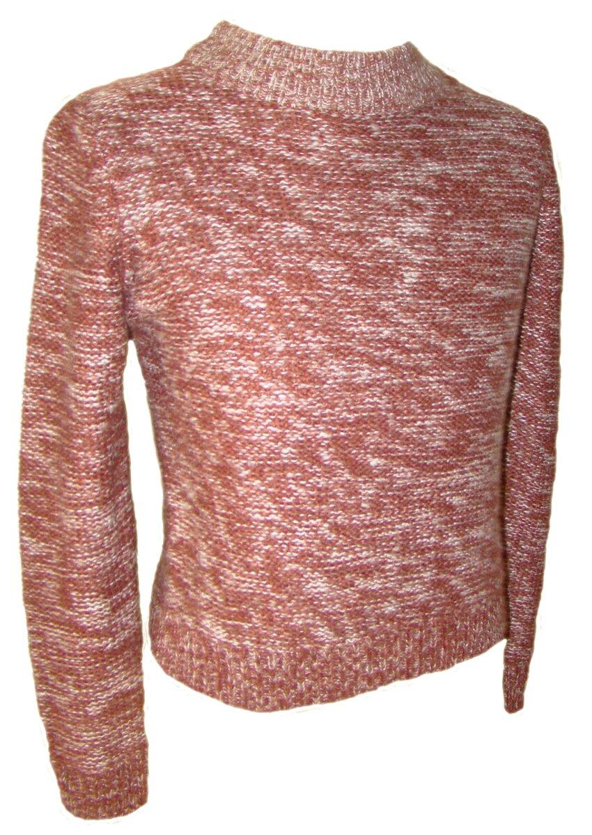 30bfbe326242 Dámsky pletený sveter C A hnedočervený