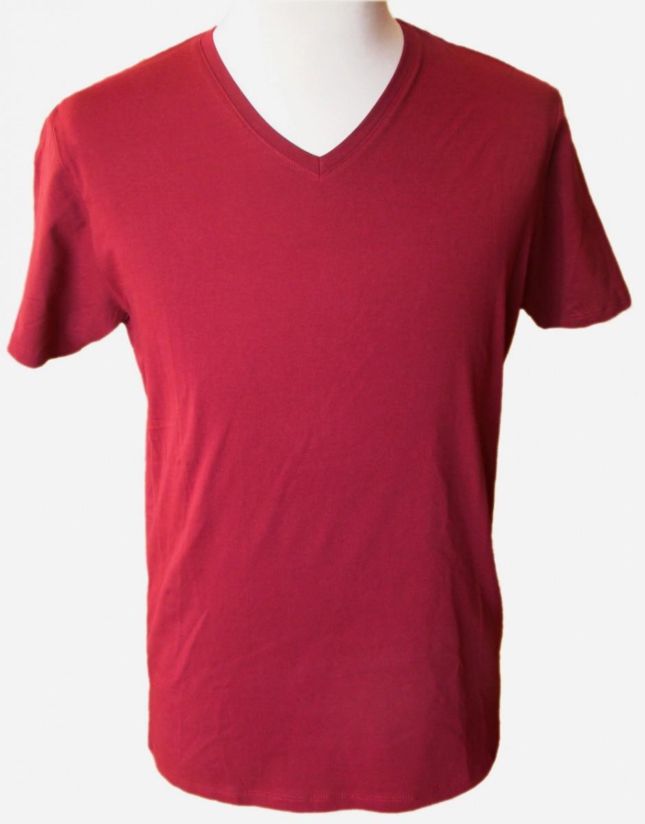 Pánske bordové tričko SMOG s krátkym rukávom 2262d97030