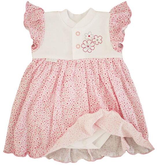b475d005a4e9 zelené šaty dievčenské bielo   ružové šaty s body Richelieu 1030 s kvetmi