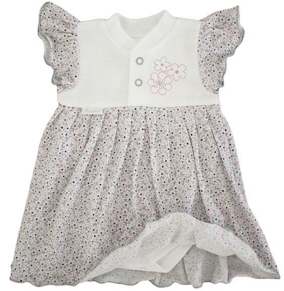 3d62a0fc367b bielo   ružové šaty dievčenské bielo   sivé šaty Richelieu 1030 s krátkym  rukávom