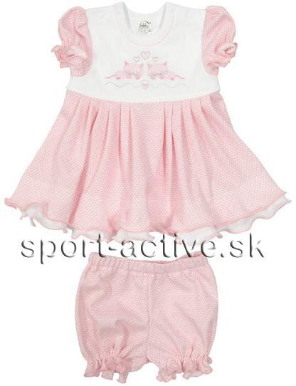 7c298d9b36ab modré šaty dievčenské ružové šaty s nohavičkami Richelieu Cilka 2103 s  krátkym rukávom