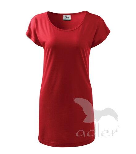 1b2d25a9d478 Adler dámske šaty   tričko s krátkym rukávom LOVE V123 červené