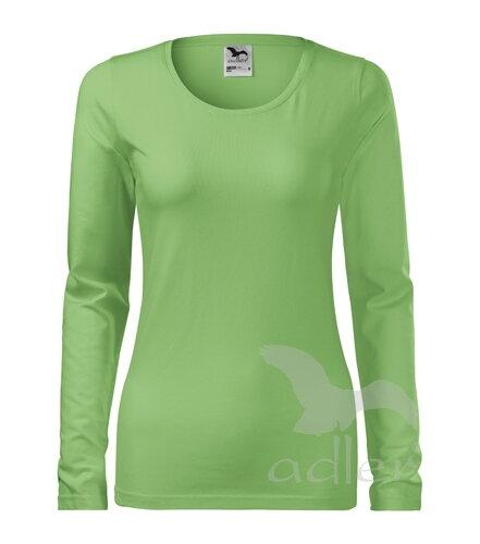8ab8e8a8b7d9 Dámske hráškovo zelené obtiahnuté tričko s dlhým rukávom Adler Slim ...