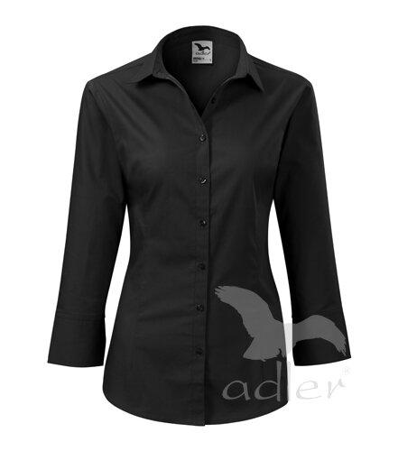 d189b37e0987 Dámska čierna blúzka - košeľa Adler Style 218 s 3 4 rukávom ...