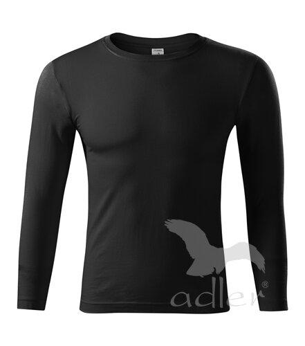 918102d5c Čierne pánske tričko s dlhým rukávom Adler Picollio Progress P75 ...