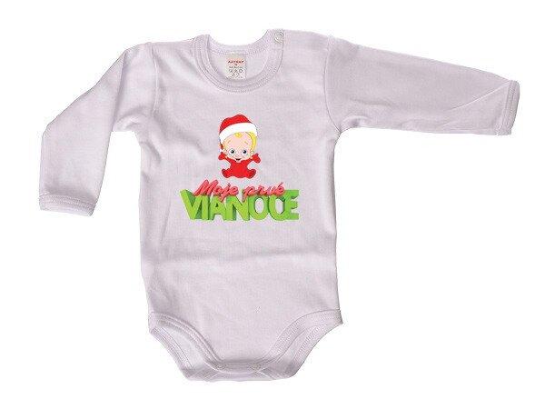 a758b5b12 Detské body s dlhým rukávom a vianočným motívom Antony Moje prvé Vianoce