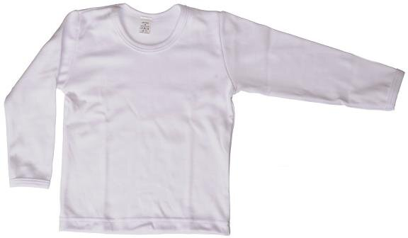 bb37b49525c9 Biely bavlnený nátelník detský s dlhým rukávom Antony veľkosť 116 na ...