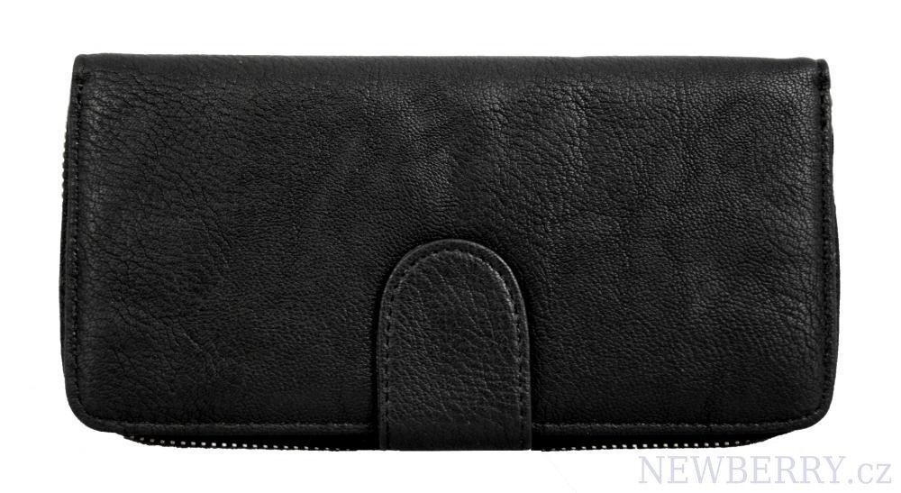 b73d5c09d8 Dámska zipsová peňaženka čierna s množstvom priestoru