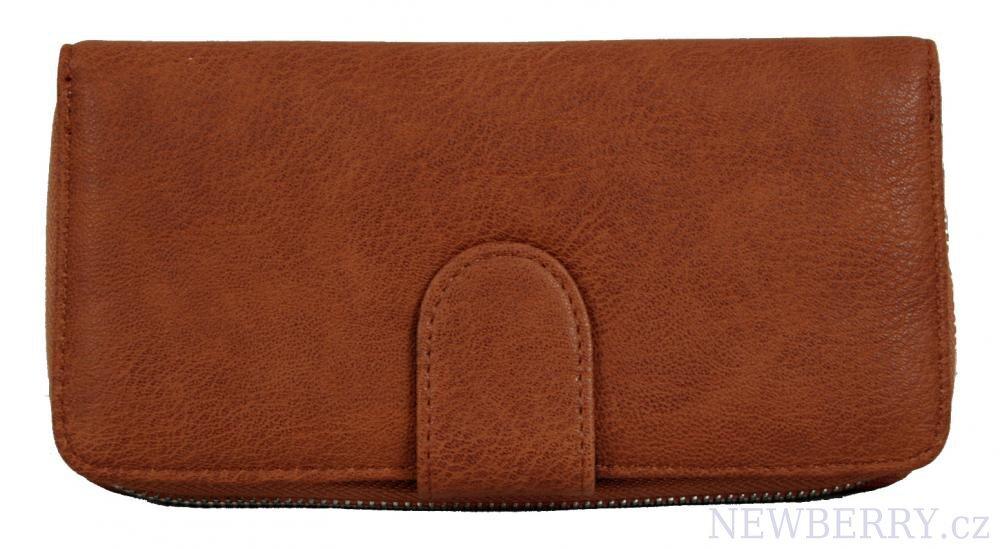 0216efa96f New Berry dámska zipsová peňaženka FD-004 hnedá