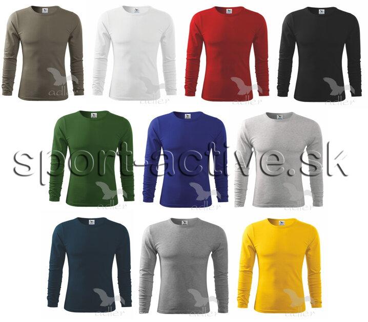 63c4c12b2dba9 Pánske tričko s dlhým rukávom Adler, bavlnené, jednofarebné, úpletové