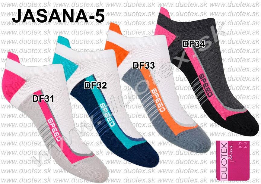 87b302755 Dámske členkové športové ponožky farebné so vzorom Jasana-5 Duotex ...