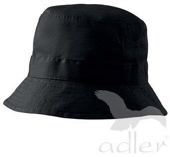 1c1683120 Čierny letný klobúk bavlnený Adler 304 s vetracími otvormi, s ...