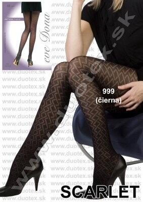 08d74144eec7 Evona dámske vzorované pančuchy - silonky Scarlet čierne