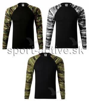 Adler pánske tričko s dlhým rukávom Camouflage 166 81a3e12826f