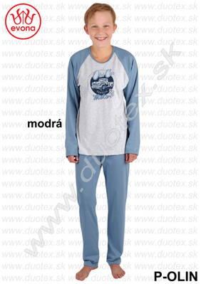 Evona chlapčenské pyžamo s dlhým rukávom P-Olin b3b0115584