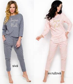 b0fe1d163 Dámske pyžamo s dlhým aj krátkym rukávom|Taro a M-MAX|dámska nočná ...