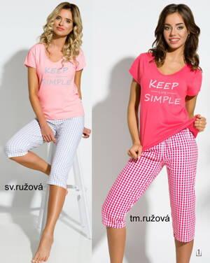 33b0c1ff44af TARO dámske pyžamo s krátkym rukávom a 3 4 nohavicami Paula2159