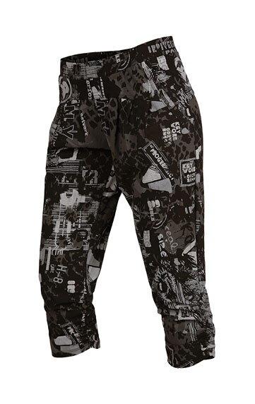 5fdf1f1bc9fe Dámske vzorované 3 4 športové nohavice Litex 50259 s vreckami ...