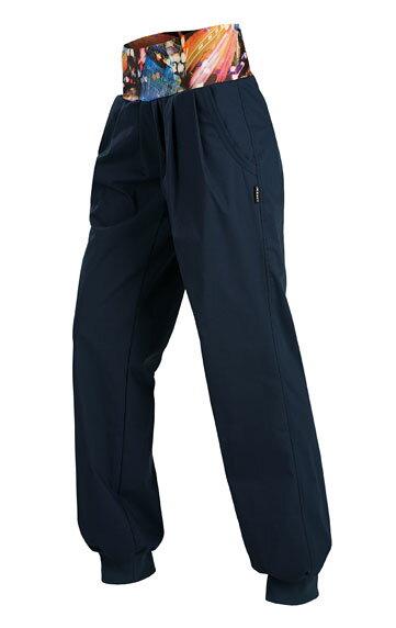 Dámske modré nohavice voľné s pružným pásom ec3e3de737a