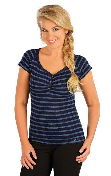 3f1afc0ef86a Pruhované dámske tričko s krátkym rukávom Litex 55279