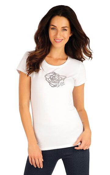36938c56a2f3 Tričko biele dámske s krátkym rukávom Litex 55313 s potlačou