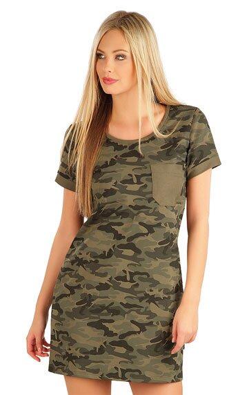 f76e56d3ddbd Dámske army šaty s krátkym rukávom Litex 58024