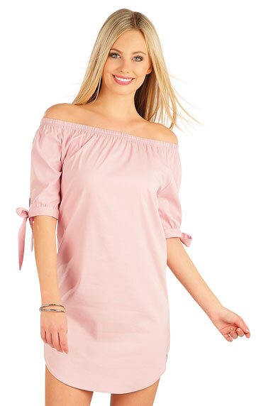 1f201c1e241c Bavlnené šaty s krátkym rukávom staroružové